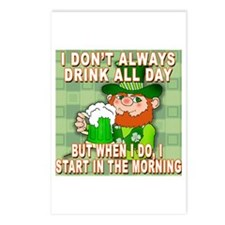 I Don't Always Drink All Day Meme Postcards (Packa