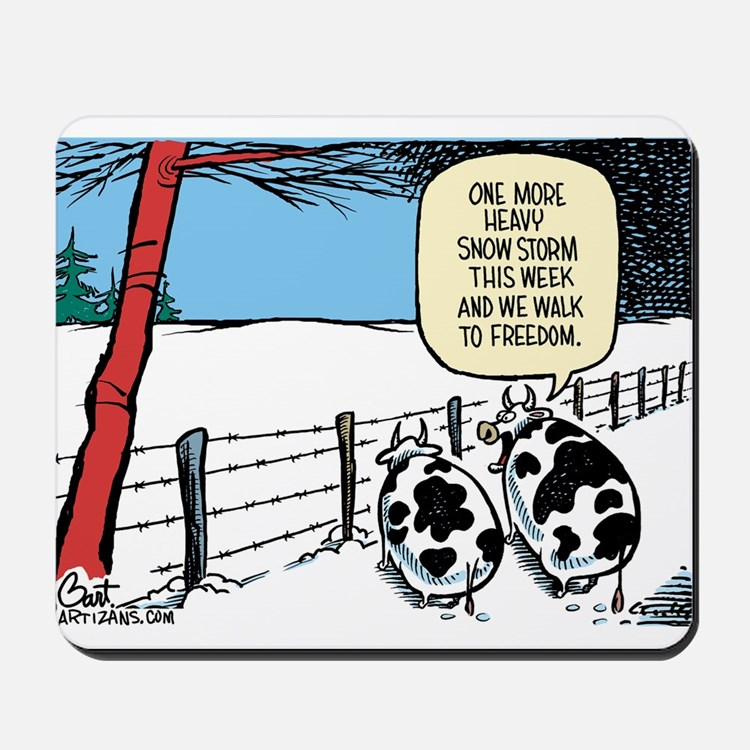 Snowbound Cattle Mousepad