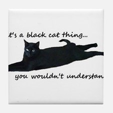 Unique Black cats Tile Coaster
