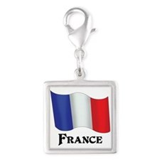 Flag of France Silver Square Charm