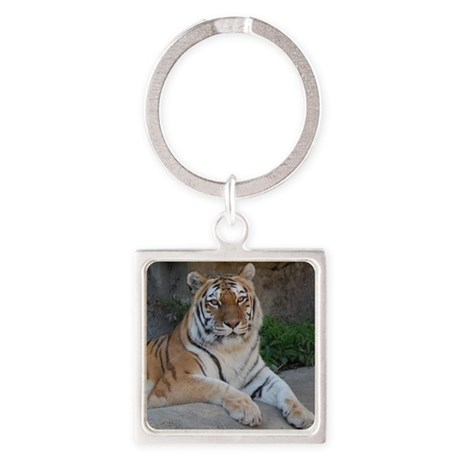 Bengal Tiger Square Keychain
