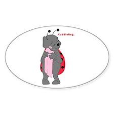 Cuddlebug-girl Oval Decal