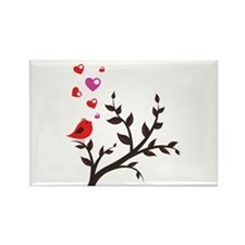 Love Bird Rectangle Magnet