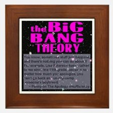 Big Bang Theory Quote Framed Tile