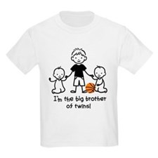 Big Brother of Twins - Stick Characters T-Shirt