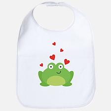 Frog in Love Bib