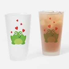Frog in Love Drinking Glass