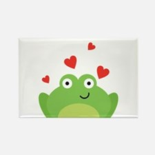 Frog in Love Rectangle Magnet