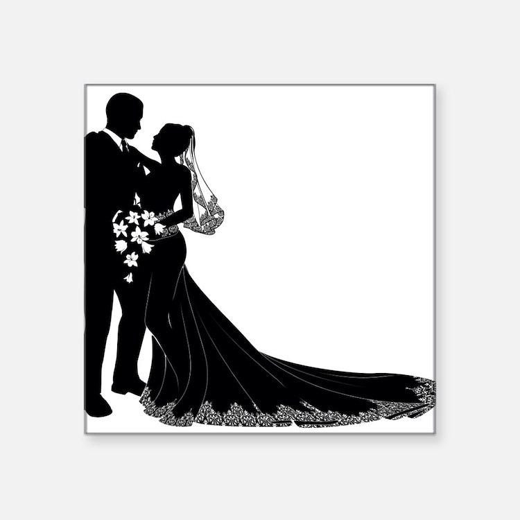 Elegant Couple Sticker