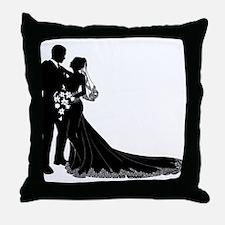 Elegant Couple Throw Pillow
