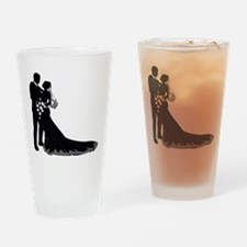 Elegant Couple Drinking Glass