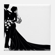 Elegant Couple Tile Coaster