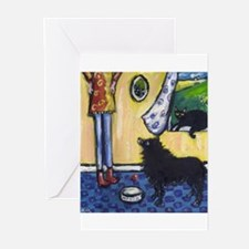 Hungry Schipperke! Greeting Cards (Pk of 10)
