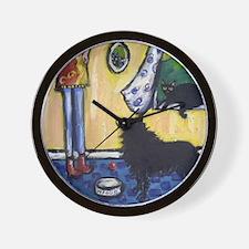 Hungry Schipperke! Wall Clock