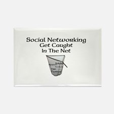 Social Networking Get Caught In The Net Rectangle