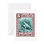 1936 Ecuador Galapagos Land Iguana Postage Stamp G