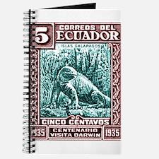 1936 Ecuador Galapagos Land Iguana Postage Stamp J