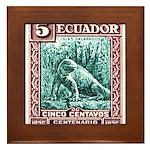 1936 Ecuador Galapagos Land Iguana Postage Stamp F