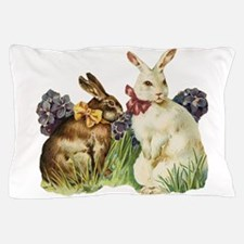 easter rabbits Pillow Case