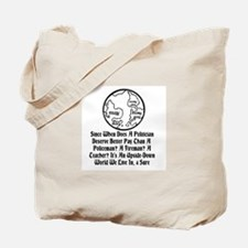 Upside Down World We Live In Tote Bag