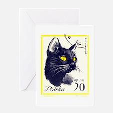 1964 Poland European Shorthair Cat Postage Stamp G