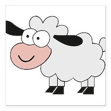 "Sheep Square Car Magnet 3"" x 3"""