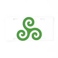 Triskele-Symbol1 Aluminum License Plate