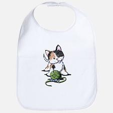 Playful Calico Kitten Bib
