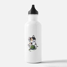 Playful Calico Kitten Water Bottle