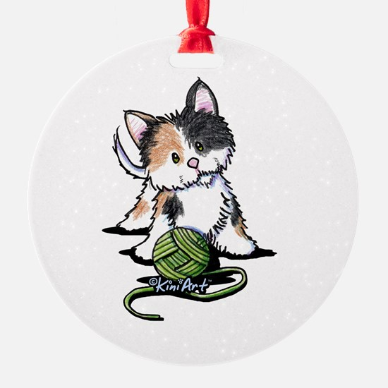 Playful Calico Kitten Ornament