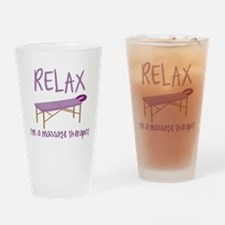 Relax Message Table Drinking Glass