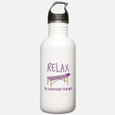 Relax Message Table Water Bottle