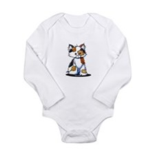 Calico Patches Long Sleeve Infant Bodysuit