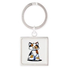Calico Patches Square Keychain