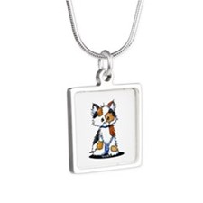 Calico Patches Silver Square Necklace