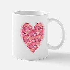 Pink Flamingo Heart Mug