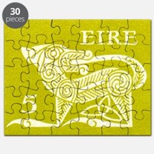 1971 Ireland Green Dog Postage Stamp Puzzle