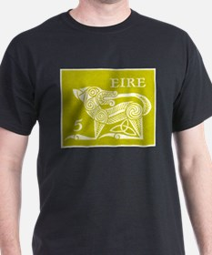 1971 Ireland Green Dog Postage Stamp T-Shirt