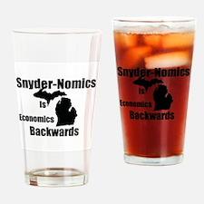 Snyder-Nomics Is Economics Backwards Drinking Glas