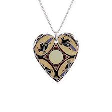 Unique Wildlife Necklace Heart Charm