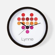 I Heart Lynne Wall Clock