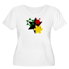 Rastafarian Colors Plus Size T-Shirt