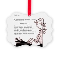 Screenwriters Conceit Ornament