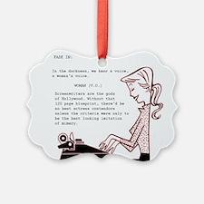 Screenwriters Conceit Ornament