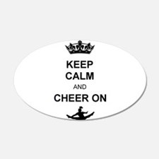 Keep Calm and Cheer on Wall Decal