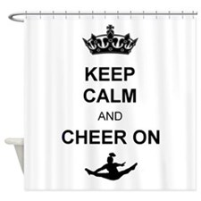 Keep Calm and Cheer on Shower Curtain