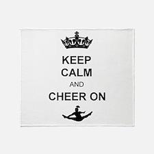 Keep Calm and Cheer on Throw Blanket