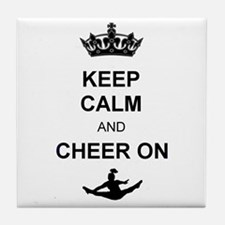 Keep Calm and Cheer on Tile Coaster