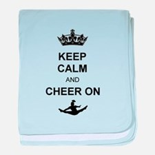 Keep Calm and Cheer on baby blanket