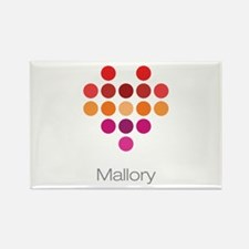 I Heart Mallory Rectangle Magnet